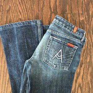 7 for all mankind A pocket bootcut Size 27
